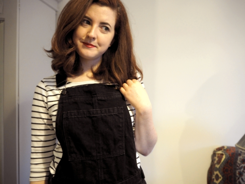 DUNGAREES AND STRIPED TOP - a day at a time.jpg